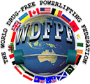 Λογότυπο World Drug Free Powerlifting Federation (WDFPF)